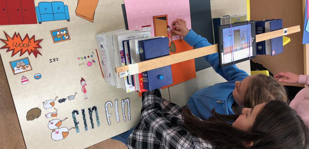 Atelier de cinéma d'animation pour enfants